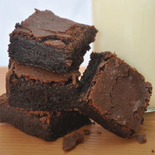 Moist and fudgy, with just the right amount of cakiness, this brownie recipe is a keeper!